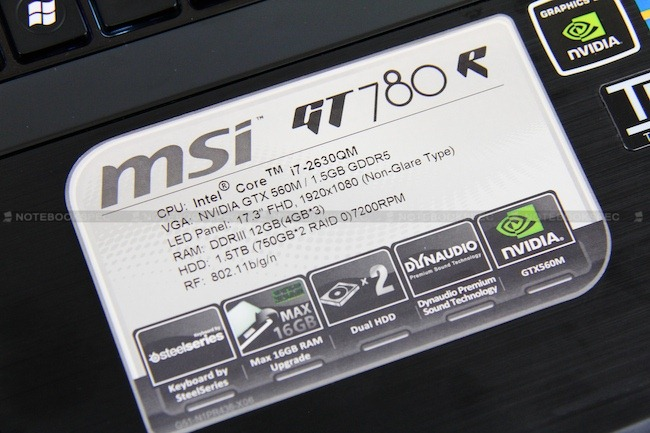 Review MSI GT780R 45