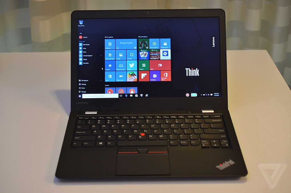 ces 2016 lenovo thinkpad 13 windows 10. Black Bedroom Furniture Sets. Home Design Ideas