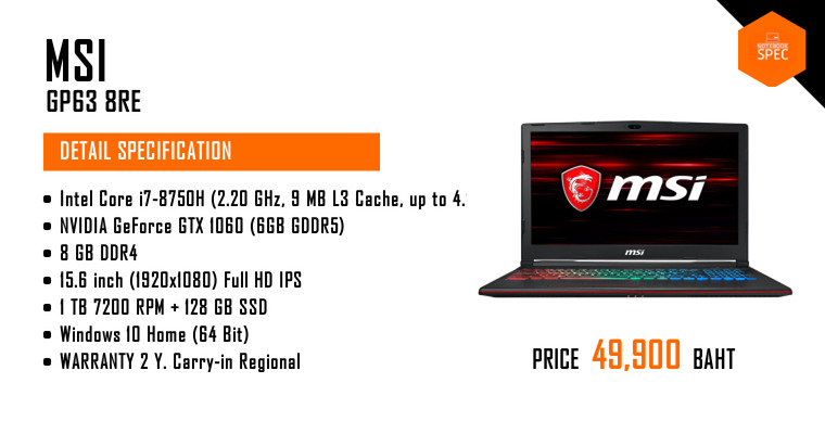 Msi Gp63 8re 080th Leopard Notebook Laptop Review Spec