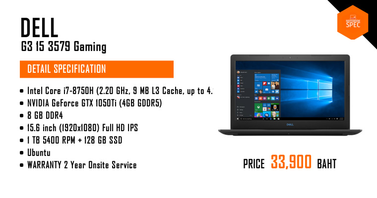 DELL G3 15 3579 Gaming-W56691425TH | Notebook Laptop review spec promotion  price - Notebookspec com