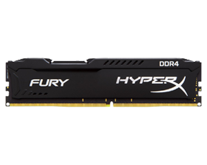 KINGSTON Hyper-X Fury DDR4 16GB (16GBx1) 2400 Black