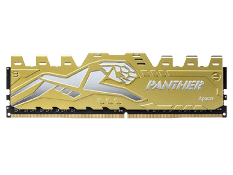 Apacer Black Panther DDR4 8GB (8GBx1) 2666 Silver-Golden