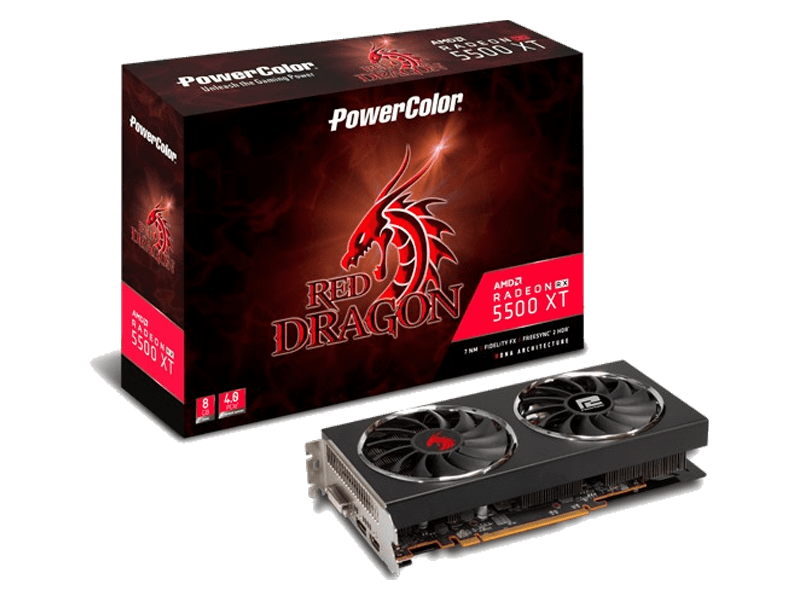 POWER COLOR Red Dragon RX 5500 XT OC