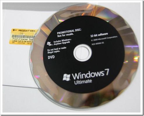 แผ่น Windows 7 x64