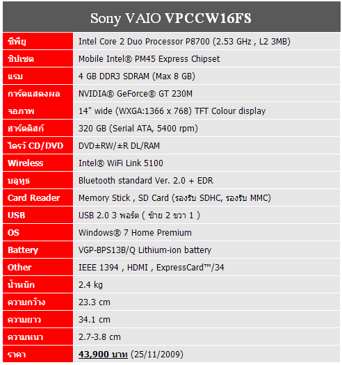 sony-vaio-cw-specification