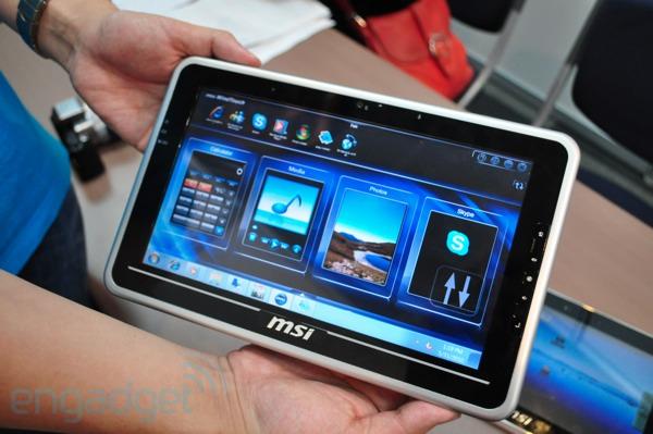 002 MSI กำลังรอ Intel สำหรับ Windows 7 Tablet ส่วน Android จะมาก่อนสิ้นปี