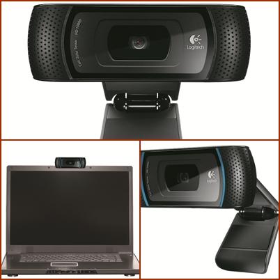 ลอจิเทคเปิดตัว Logitech HD เว็บแคมคมชัดระดับเทพนำทีมโดย HD Pro  Webcam C910 คมชัดระดับ HD 720p
