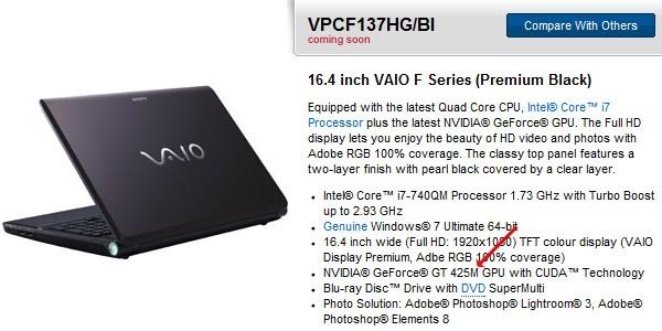 01-02 Sony จัดการ Refresh เครื่องเล็กน้อย แค่ใช้ Intel Core i7 640M และ Intel Core i5 580M ว้าว