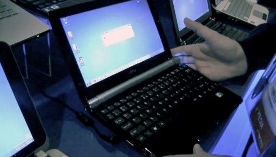 03-01 MSI Wind U160 ได้รับการอัพเกรดใหม่ให้ทันยุคด้วย Intel Atom N550