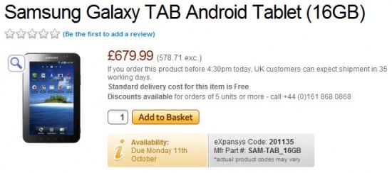 04-01 ราคาขายของ Samsung Galaxy Tab ในหลายๆ ส่วนของโลก