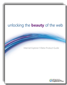 05-01 Microsoft ออกคู่มือสำหรับ Internet Explorer 9 ข้อมูลพร้อม