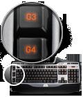 Six programmable G-keys