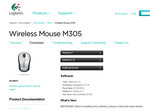 Wireless Mouse M305 B-02
