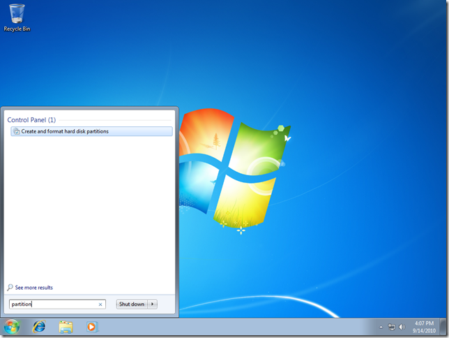 01 แบ่งหรือลดขนาดพาร์ติชั่นใน Windows 7