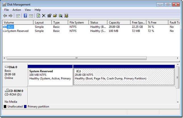 02 แบ่งหรือลดขนาดพาร์ติชั่นใน Windows 7