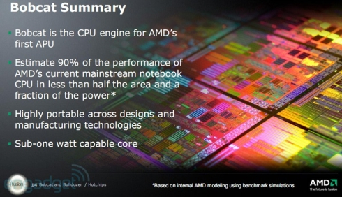 04-01 AMD เปิดเผยข้อมูลของ CPU นาม Bobcat โคตรประหยัดพลังงานสุดยอด