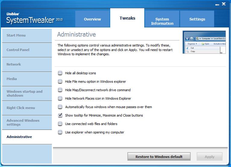 05-01 [Download] UniBlue SystemTweaker 2010 โปรแกรมปรับแต่งเครื่องแจกให้ใช้กันฟรีๆ