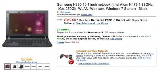 05-01 Samsung N350 และ NF210 ตอนนี้ออกมาขายที่อังกฤษแล้ว