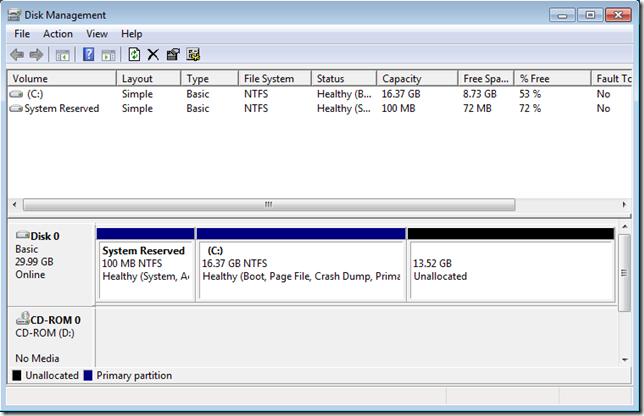 05 แบ่งหรือลดขนาดพาร์ติชั่นใน Windows 7