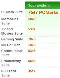 10 PCMark Vantage Asus UL50VF 1st