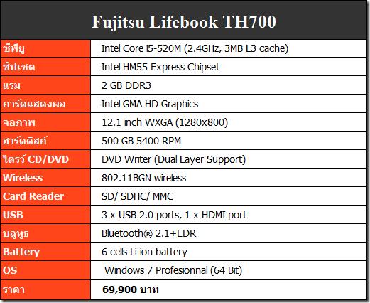 TH700spec