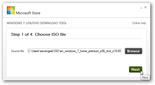 01 ลง Windows จากแฟลชไดรว์ผ่าน Windows 7 USB DVD Download Tool