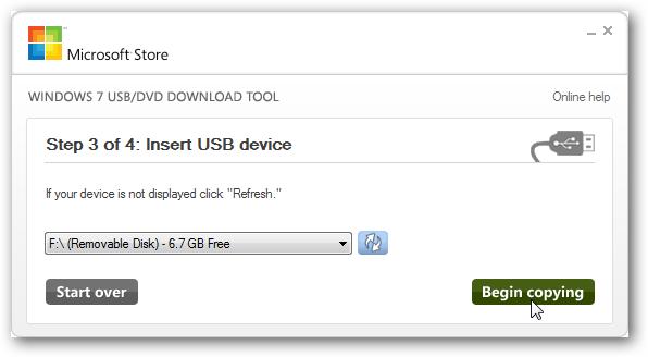 03 ลง Windows จากแฟลชไดรว์ผ่าน Windows 7 USB DVD Download Tool