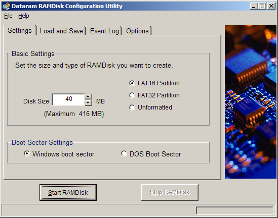 10 Dataram RAMDisk