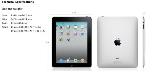 Spec iPad