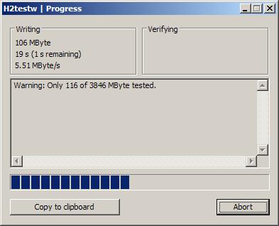 03 H2testw โปรแกรมทดสอบ USB Drive และการ์ดเก็บข้อมูล