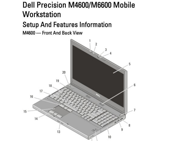 Dell Precision M4600M6600 Manual