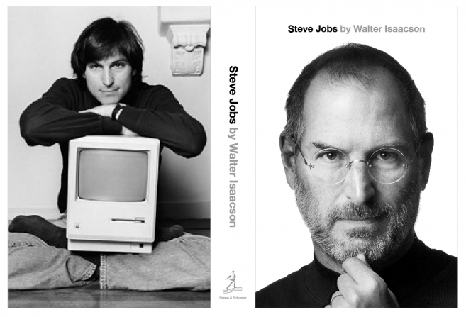 steve jobs authorized biography front and back cover
