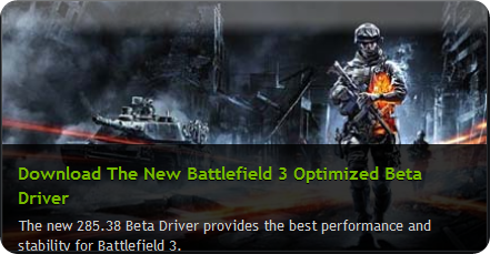 NVIDIA for Battlefiled 3