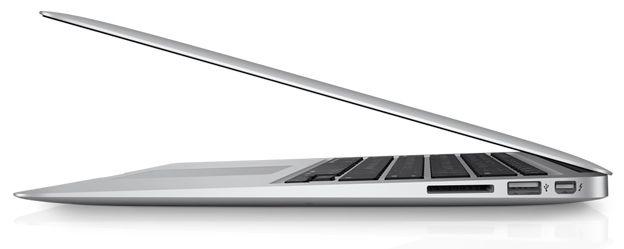 2011 macbook air right profile lid half closed