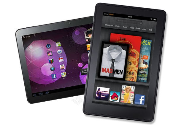 Amazon Kindle Fire tablet with Samsung Galaxy Tab Tablet 03