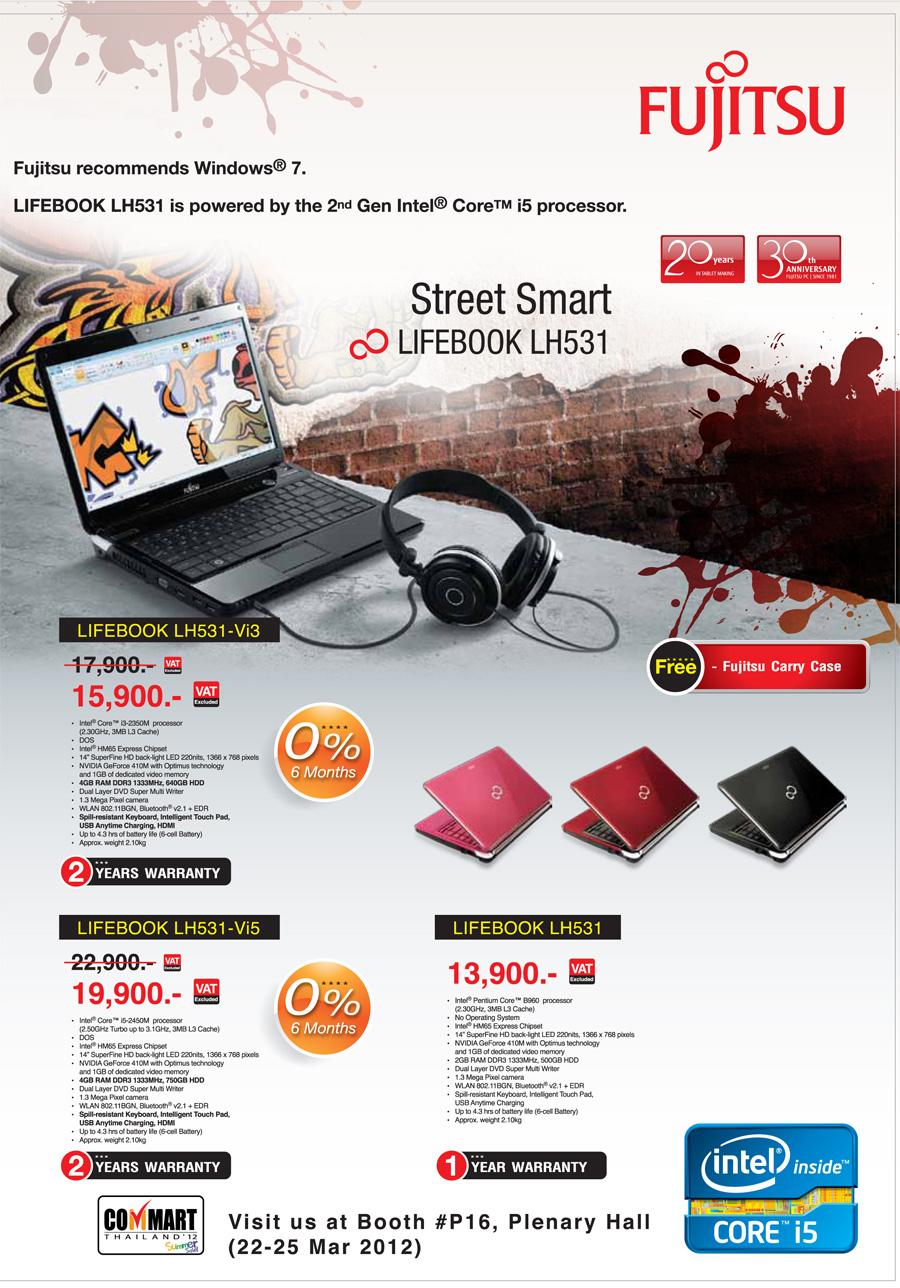 Fujitsu brochure Commart Thailand 2012 Cover