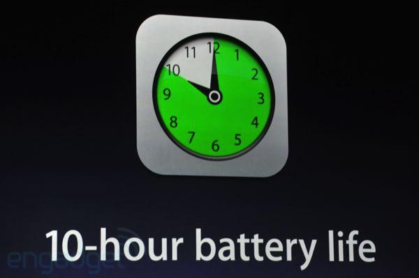 10 hour battery ipad