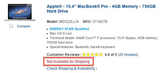 best buy mbp not shipping