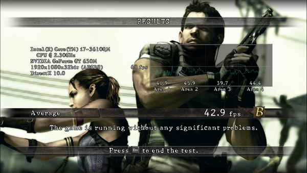 RE5DX10 1920x1080 High All, AA16, Motion On
