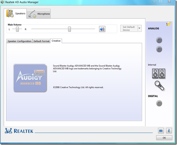 Realtek HD Audio Manager2