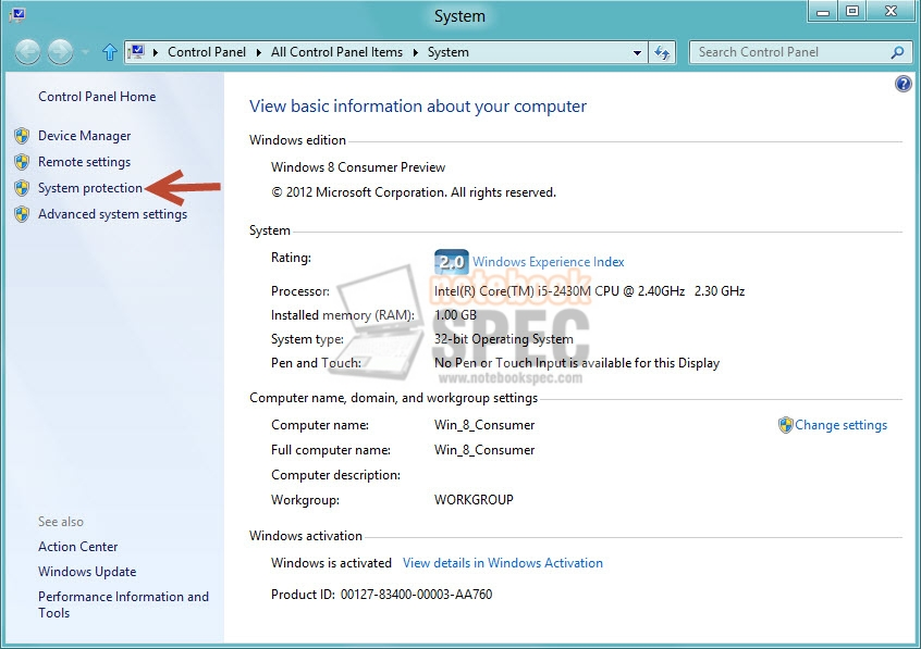 system restore size 02
