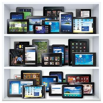 tablets on shelf