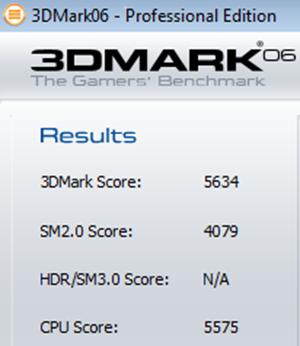 3DMark06 result
