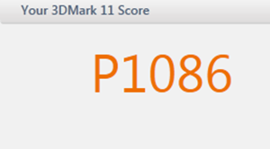 3DMark11 result