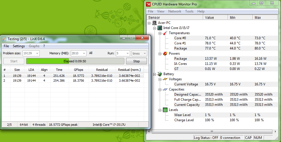 Acer S5 LinXAllMem