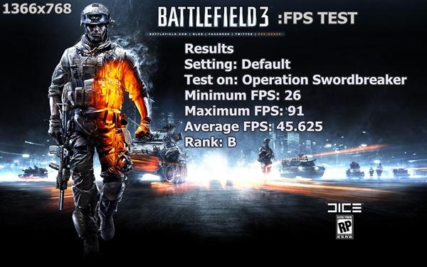 BF3 FPS Test