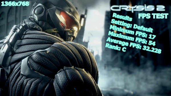 Crysis2 FPS Test