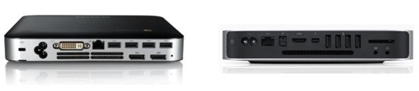 Samsung Chromebook Series 3 and Apple Mac mini back ports