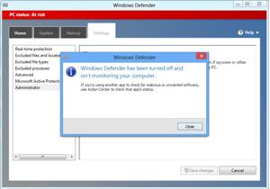 ปิด Windows Defender ก่อนติดตั้ง Anti-Virus ตัวอื่น ใน Windows 8