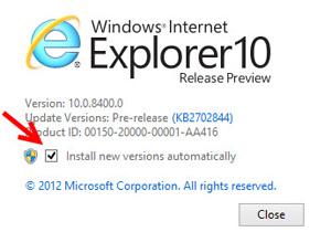 ปิด-เปิด ออโตอัปเดท Internet Explorer 10 ใน Windows 8